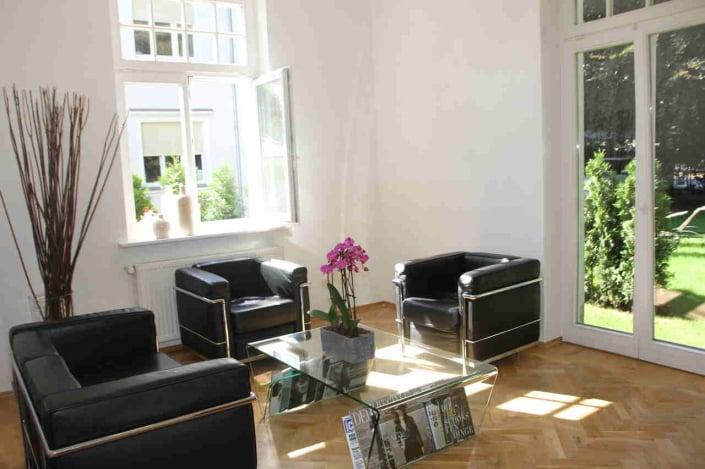 Wartezimmer der Dental Praxisklinik Gelsenkirchen